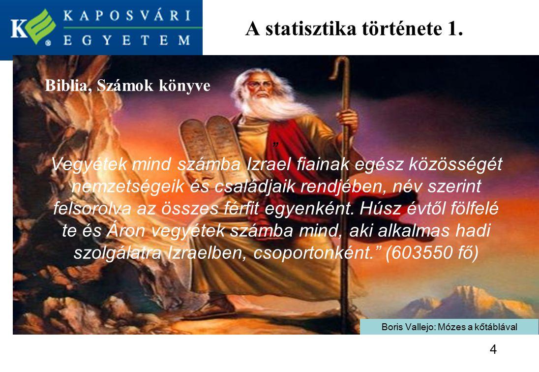 A statisztika története 1.