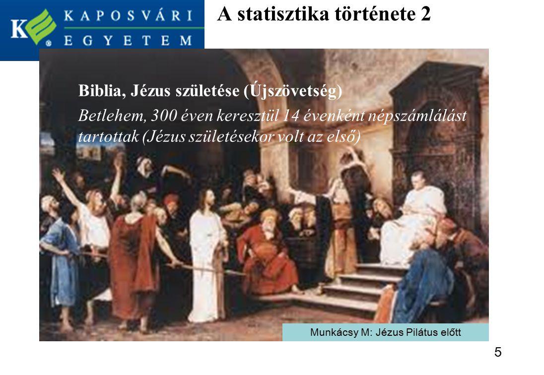 A statisztika története 2