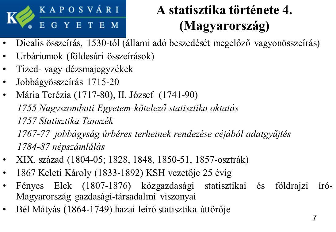A statisztika története 4. (Magyarország)
