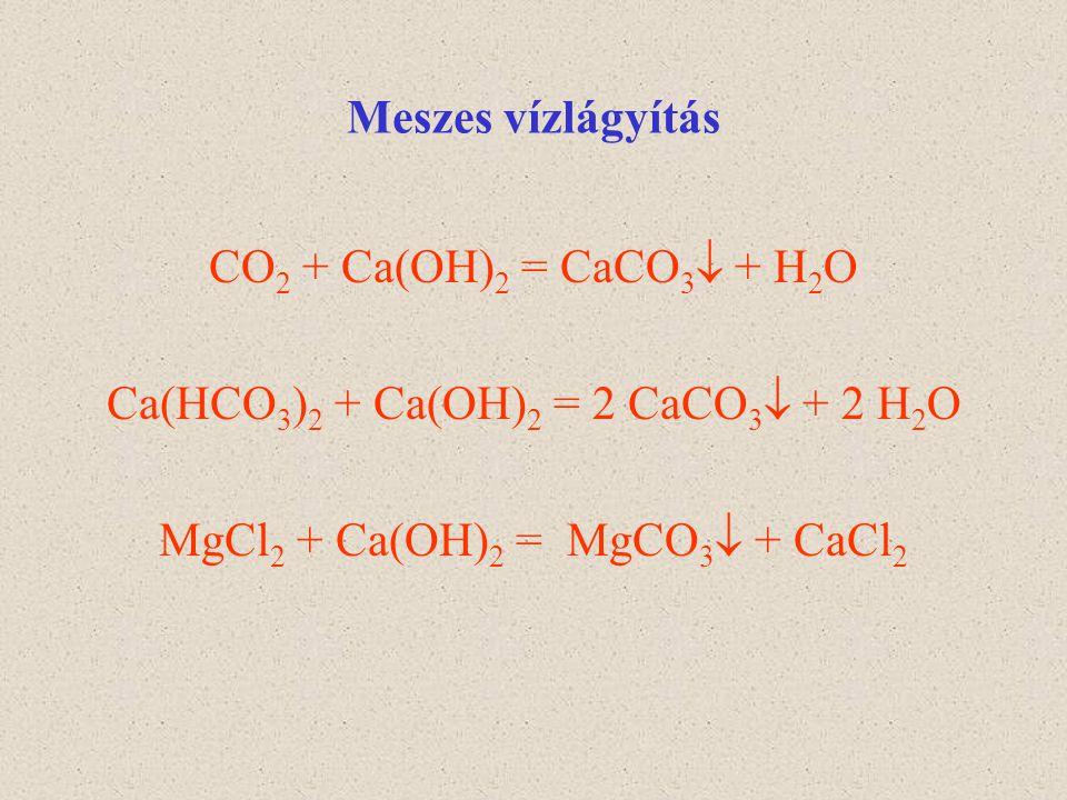 Ca(HCO3)2 + Ca(OH)2 = 2 CaCO3 + 2 H2O