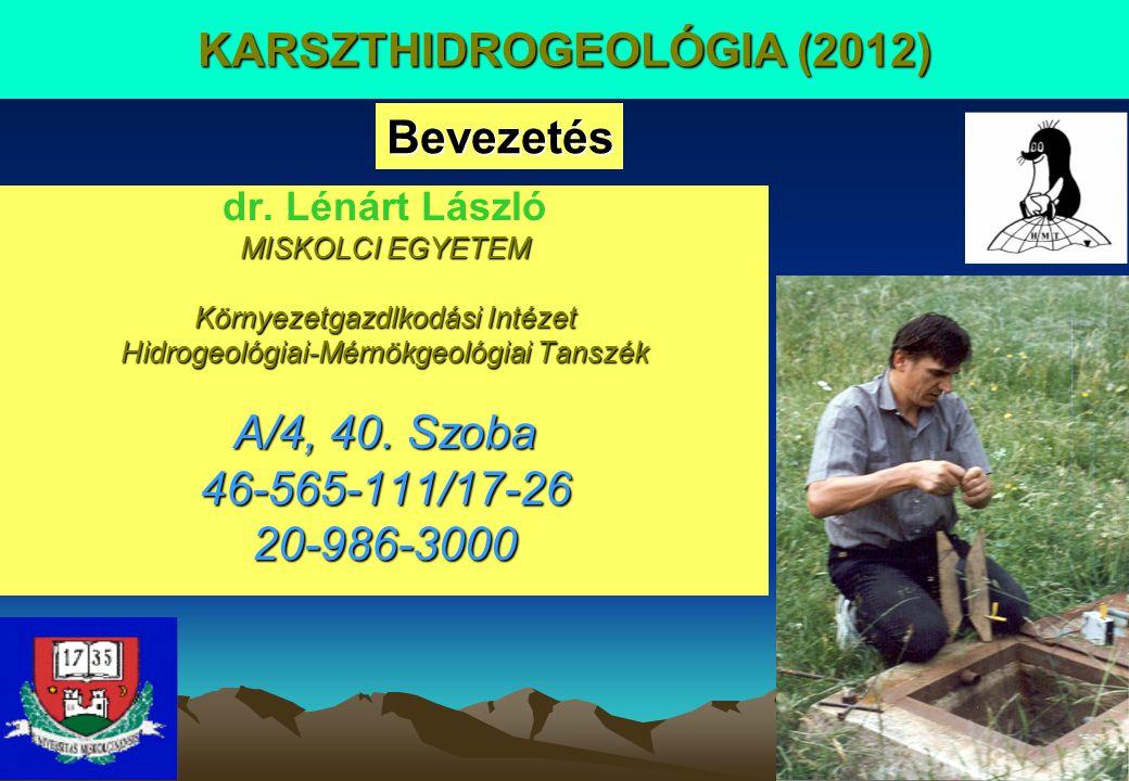 KARSZTHIDROGEOLÓGIA (2012)