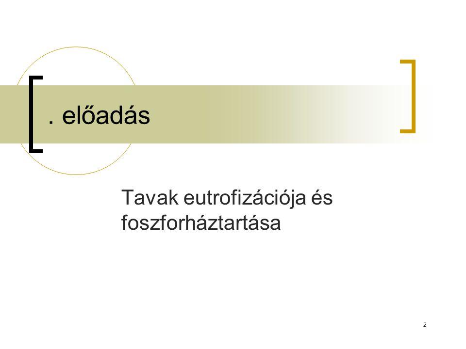 Tavak eutrofizációja és foszforháztartása