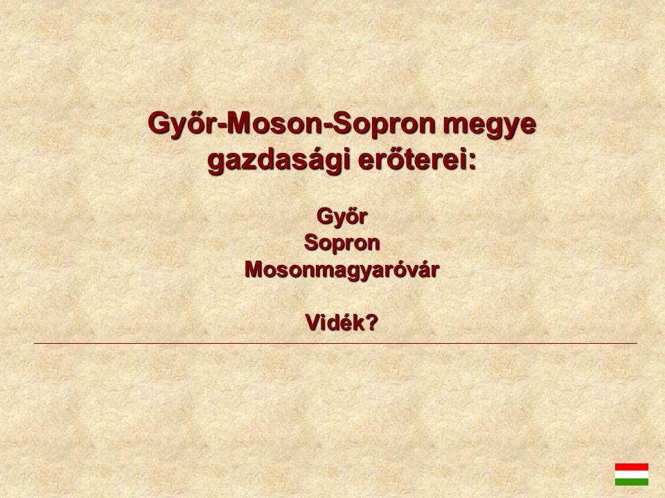 Győr-Moson-Sopron megye gazdasági erőterei: Győr Sopron Mosonmagyaróvár Vidék