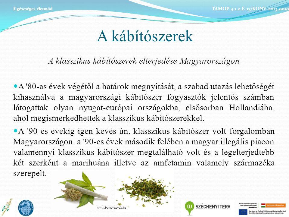 A klasszikus kábítószerek elterjedése Magyarországon
