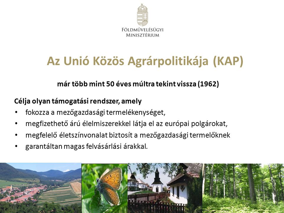 Az Unió Közös Agrárpolitikája (KAP)