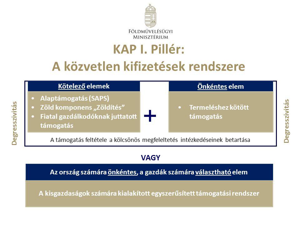 + KAP I. Pillér: A közvetlen kifizetések rendszere VAGY