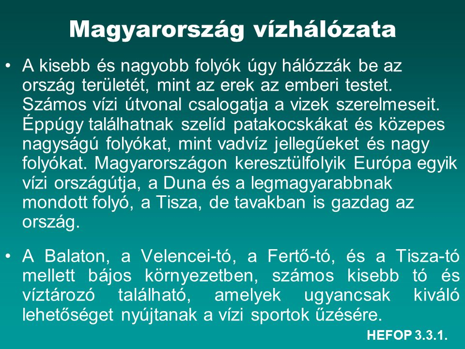 Magyarország vízhálózata