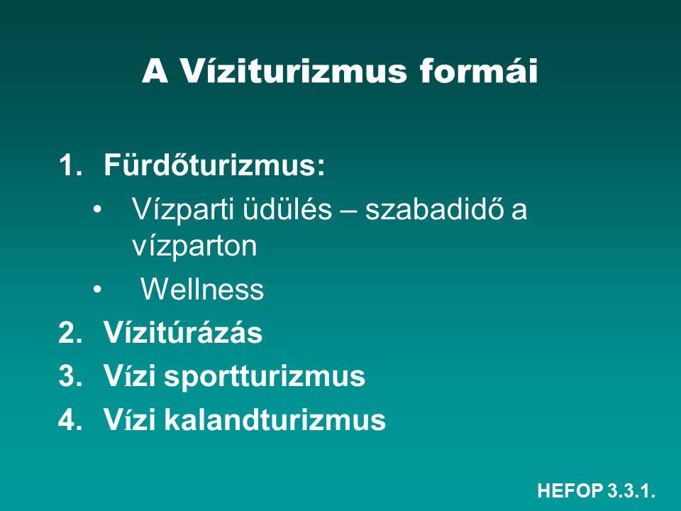 A Víziturizmus formái Fürdőturizmus: