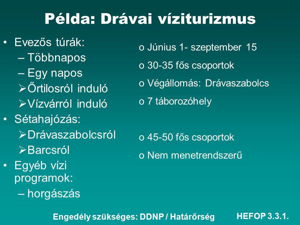 Példa: Drávai víziturizmus