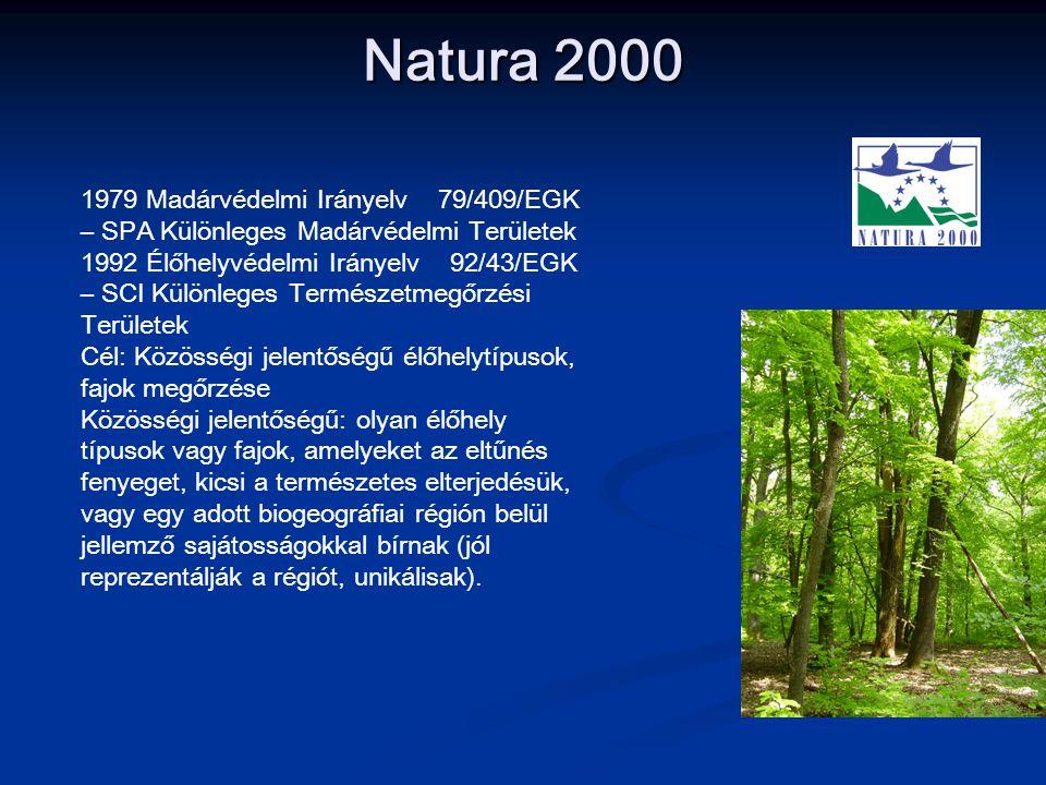 Natura 2000 1979 Madárvédelmi Irányelv 79/409/EGK – SPA Különleges Madárvédelmi Területek.