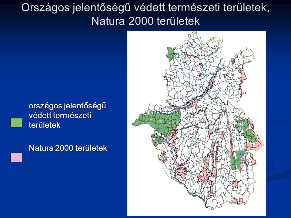 Országos jelentőségű védett természeti területek, Natura 2000 területek