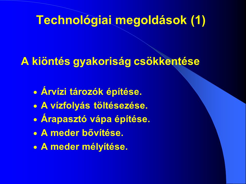 Technológiai megoldások (1)