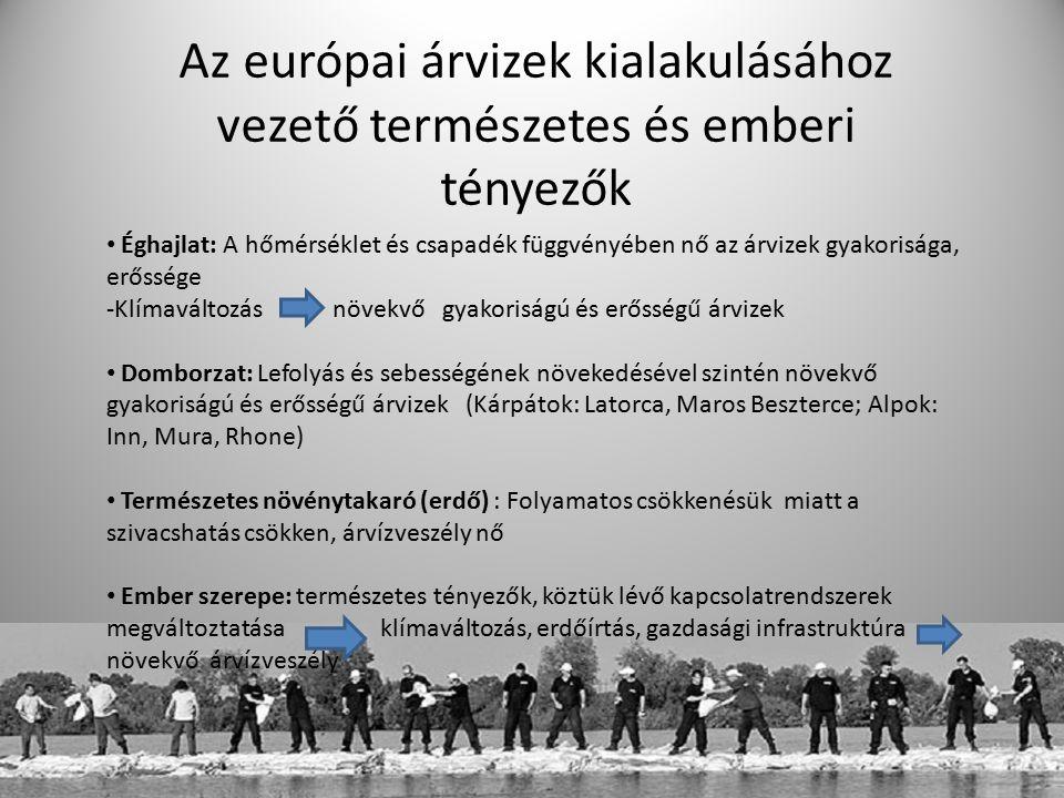 Az európai árvizek kialakulásához vezető természetes és emberi tényezők