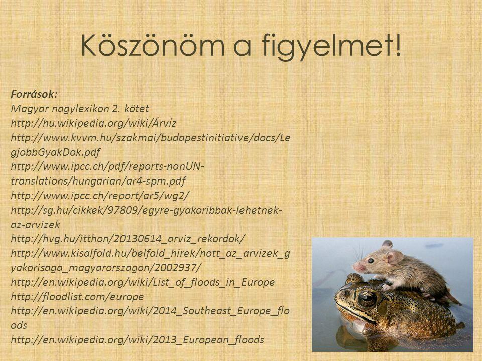 Köszönöm a figyelmet! Források: Magyar nagylexikon 2. kötet