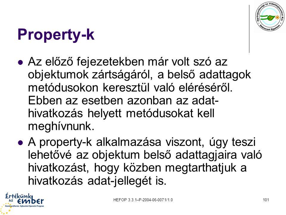Property-k