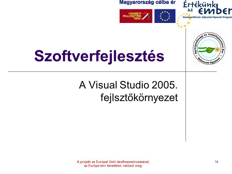 A Visual Studio 2005. fejlsztőkörnyezet