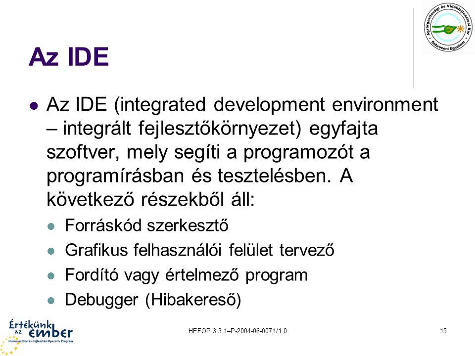 Az IDE