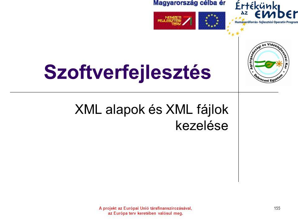 XML alapok és XML fájlok kezelése