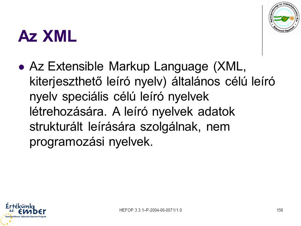 Az XML