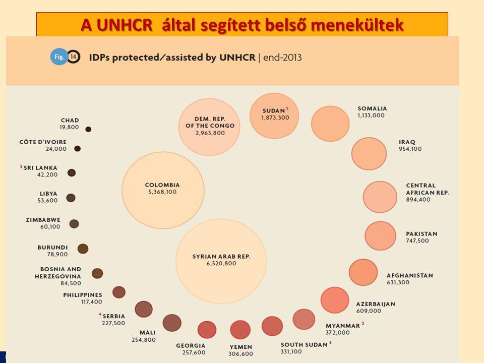A UNHCR által segített belső menekültek