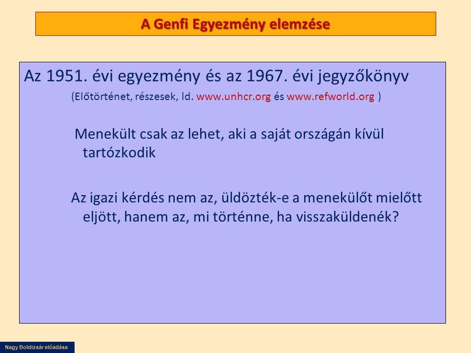 A Genfi Egyezmény elemzése