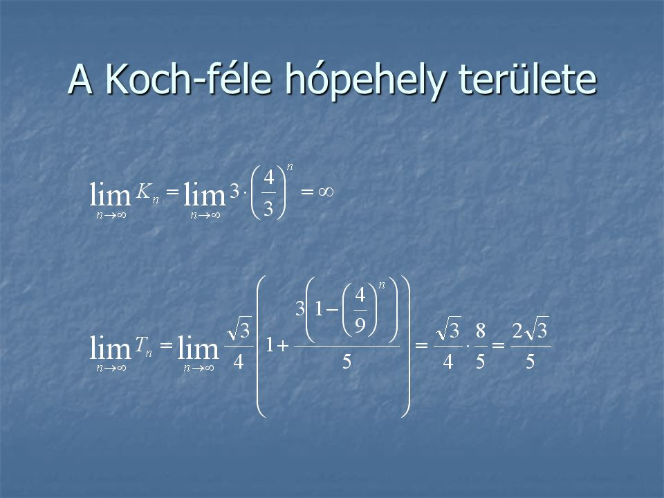 A Koch-féle hópehely területe