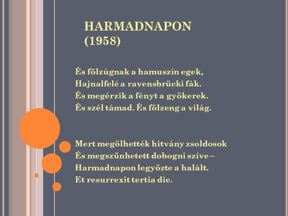 HARMADNAPON (1958) És fölzúgnak a hamuszín egek,