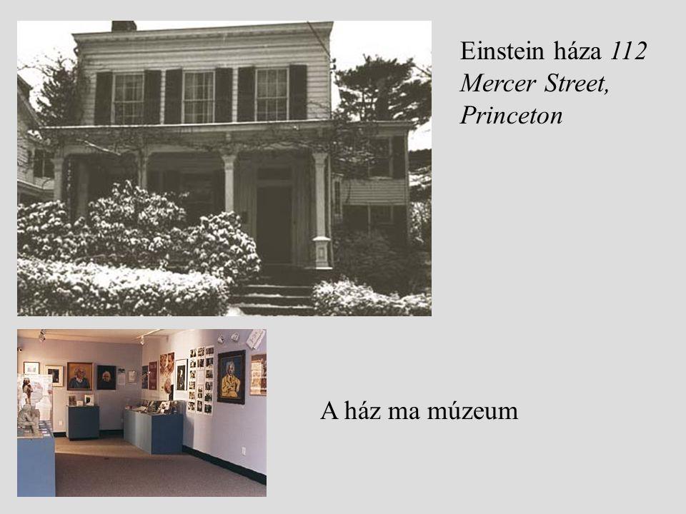 Einstein háza 112 Mercer Street, Princeton