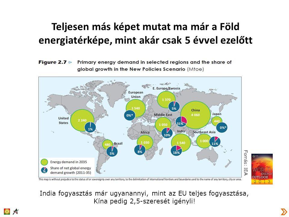 Teljesen más képet mutat ma már a Föld energiatérképe, mint akár csak 5 évvel ezelőtt