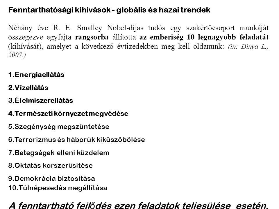 Fenntarthatósági kihívások - globális és hazai trendek