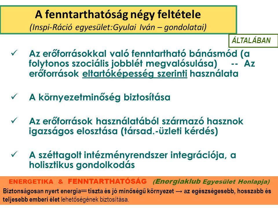 ENERGETIKA & FENNTARTHATÓSÁG (Energiaklub Egyesület Honlapja)