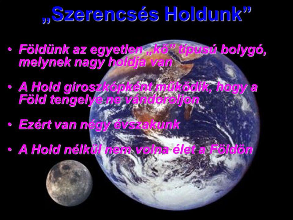 """""""Szerencsés Holdunk Földünk az egyetlen """"kő típusú bolygó, melynek nagy holdja van."""