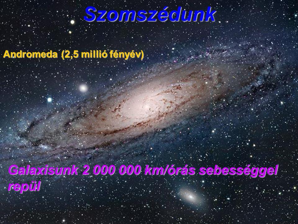 Szomszédunk Galaxisunk 2 000 000 km/órás sebességgel repül