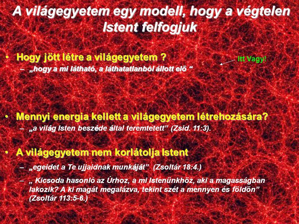 A világegyetem egy modell, hogy a végtelen Istent felfogjuk