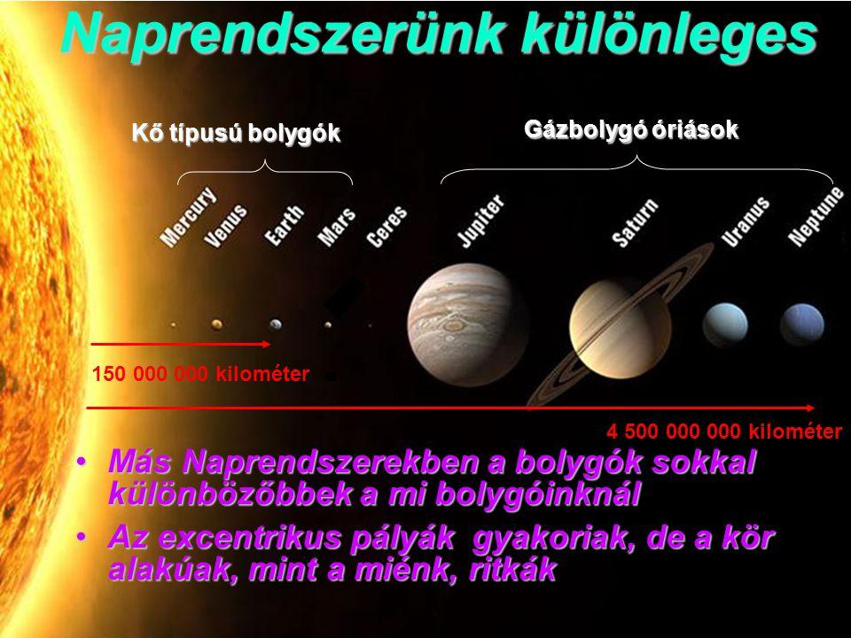 Naprendszerünk különleges