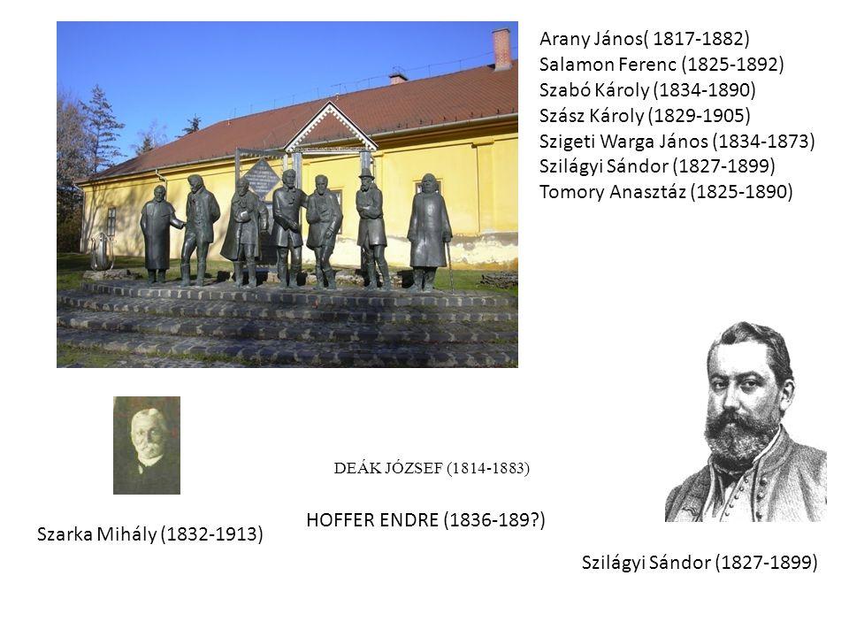 Szigeti Warga János (1834-1873) Szilágyi Sándor (1827-1899)