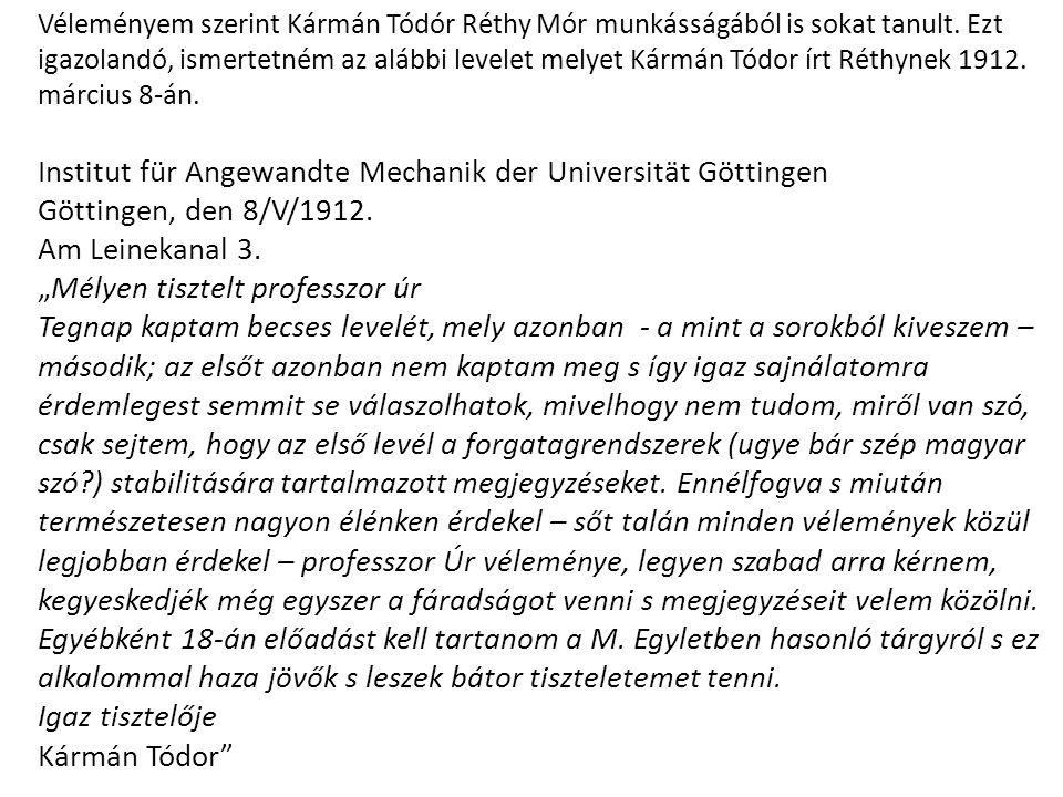 Institut für Angewandte Mechanik der Universität Göttingen