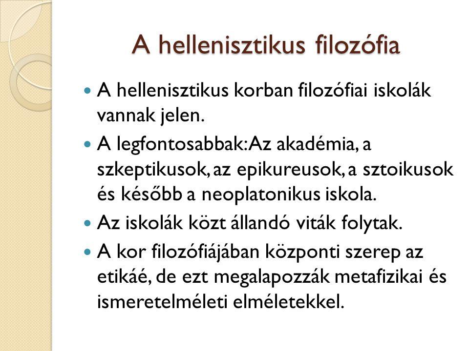 A hellenisztikus filozófia