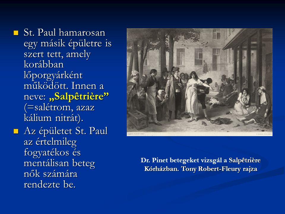 """St. Paul hamarosan egy másik épületre is szert tett, amely korábban lőporgyárként működött. Innen a neve: """"Salpêtrière (=salétrom, azaz kálium nitrát)."""