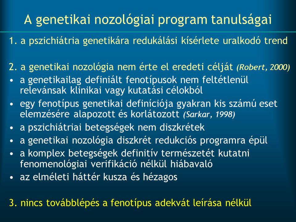 A genetikai nozológiai program tanulságai