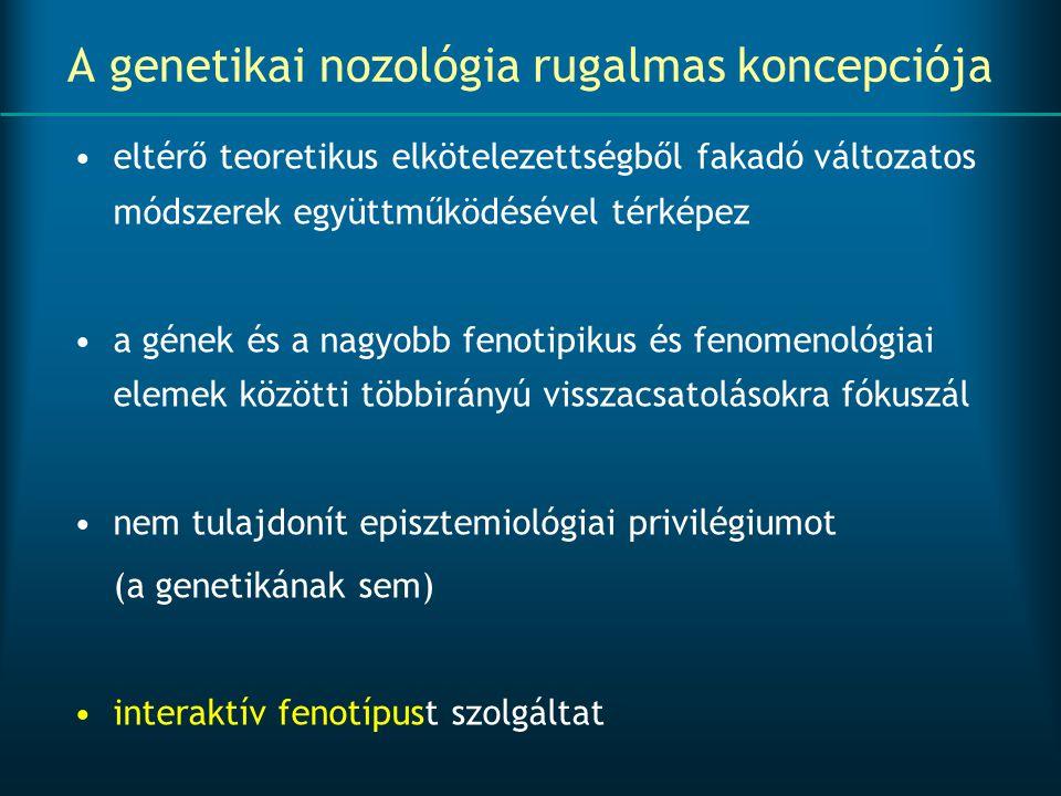 A genetikai nozológia rugalmas koncepciója