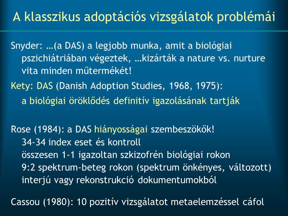 A klasszikus adoptációs vizsgálatok problémái