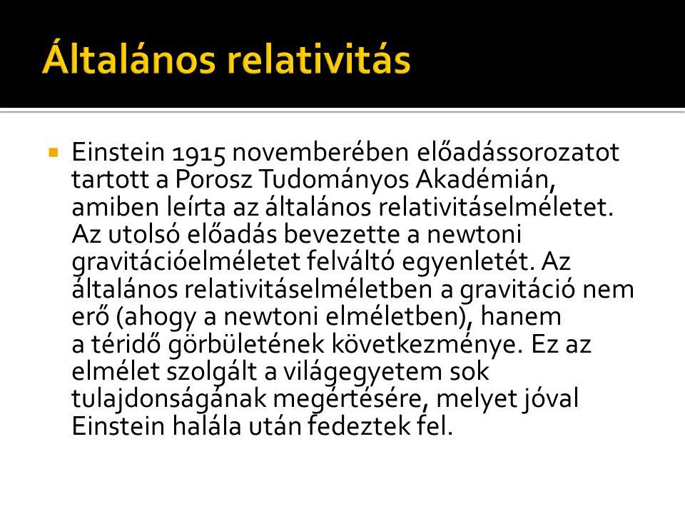 Általános relativitás
