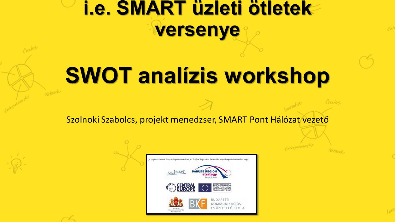 i.e. SMART üzleti ötletek versenye SWOT analízis workshop
