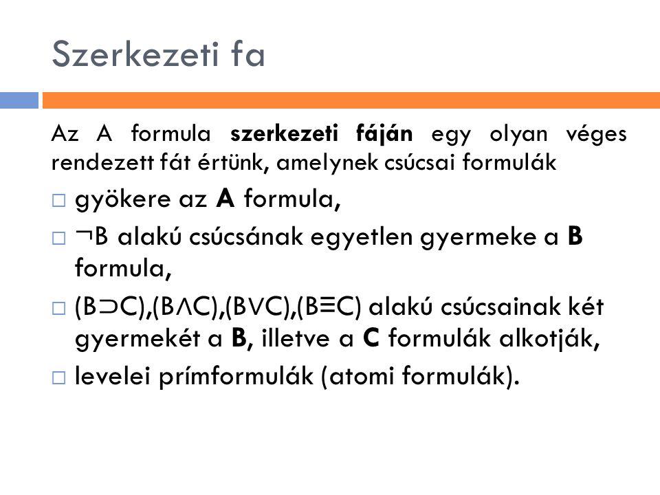 Szerkezeti fa gyökere az A formula,