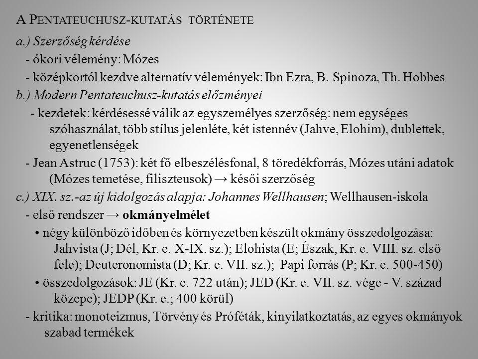 A Pentateuchusz-kutatás története