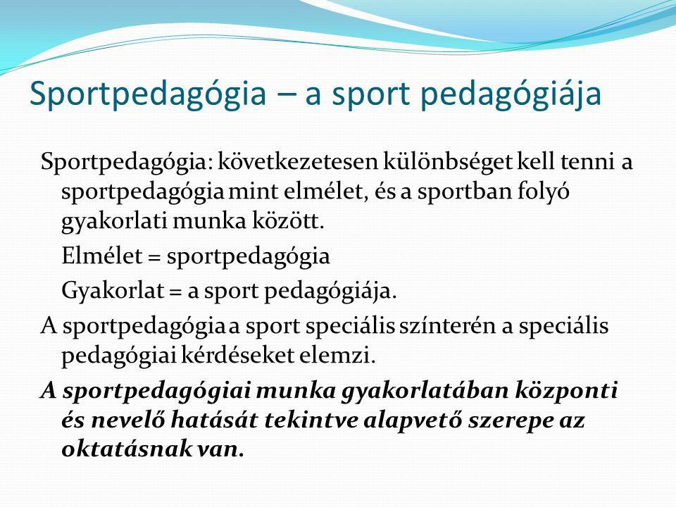 Sportpedagógia – a sport pedagógiája