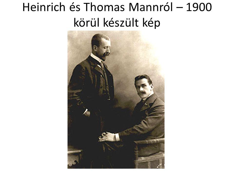 Heinrich és Thomas Mannról – 1900 körül készült kép