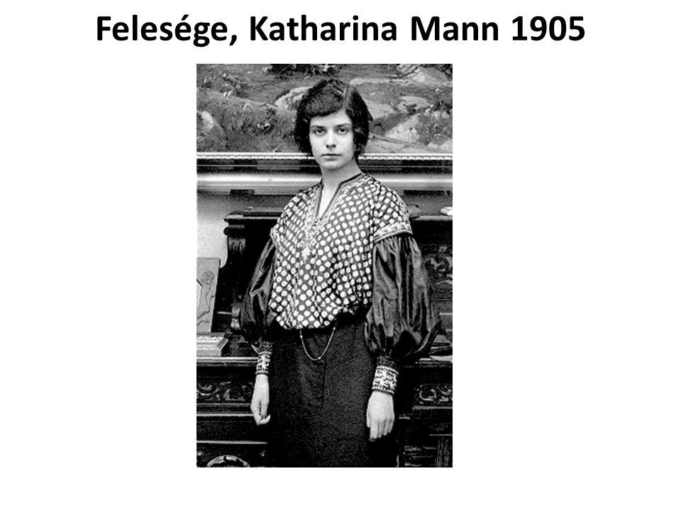 Felesége, Katharina Mann 1905