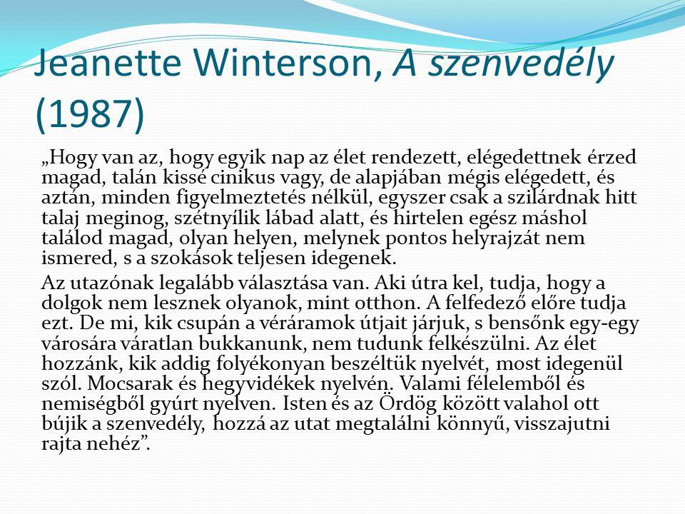 Jeanette Winterson, A szenvedély (1987)